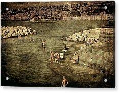 Having A Swim In Naples Acrylic Print