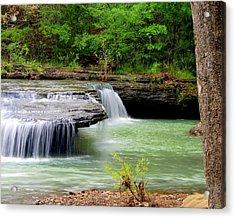 Haw Creek Falls Acrylic Print by Marty Koch