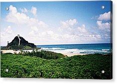 Acrylic Print featuring the photograph Hawaii Beach Scene by Judyann Matthews