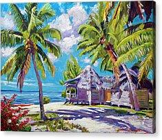 Hawaii Beach Shack Acrylic Print by David Lloyd Glover