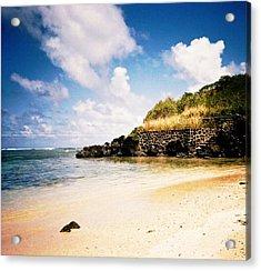 Acrylic Print featuring the photograph Hawaii Beach View by Judyann Matthews