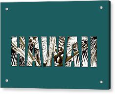 Acrylic Print featuring the photograph Hawaii Coconut Palm Type by Kerri Ligatich
