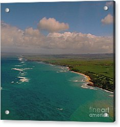 Acrylic Print featuring the photograph Hawaii From Above by Louise Fahy