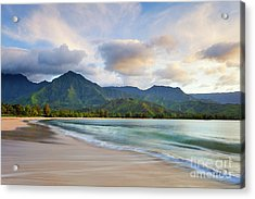 Hawaii Hanalei Dreams Acrylic Print by Monica and Michael Sweet