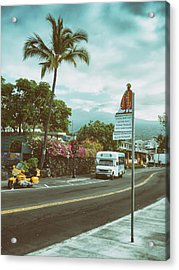 Hawaii Ironman Start Point  Acrylic Print by Mary Lee Dereske