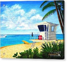 Hawaii North Shore Banzai Pipeline Acrylic Print by Jerome Stumphauzer
