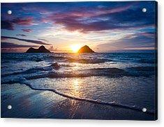 Hawaii Sunrise Acrylic Print by Robert Davis