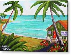 Hawaii Tropical Beach Art Prints Painting #418 Acrylic Print by Donald k Hall