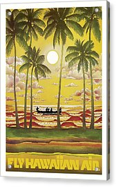 Hawaii Vintage Airline Travel Poster  Acrylic Print