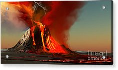 Hawaii Volcano Acrylic Print by Corey Ford