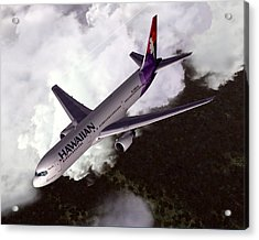 Hawaiian Airlines Boeing 767-300er Acrylic Print by Mike Ray