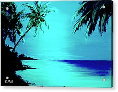 Hawaiian Beach Art Painting #188 Acrylic Print by Donald k Hall