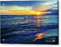 Hawaiian Beach Sunset Acrylic Print