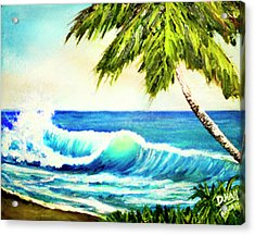 Hawaiian Beach Wave #420 Acrylic Print by Donald k Hall