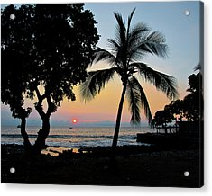 Hawaiian Big Island Sunset  Kailua Kona  Big Island  Hawaii Acrylic Print