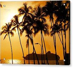 Hawaiian  Cruise Acrylic Print by Athala Carole Bruckner