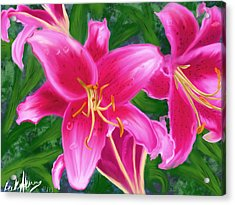 Hawaiian Flowers Acrylic Print