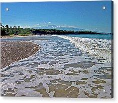 Hawaiian Landscape Of Hapuna Beach Acrylic Print
