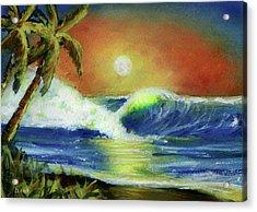 Hawaiian Moon #399 Acrylic Print by Donald k Hall