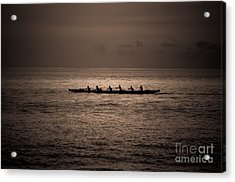 Acrylic Print featuring the photograph Hawaiian Outrigger by Kelly Wade