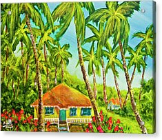 Hawaiian Plantation Home #390 Acrylic Print by Donald k Hall