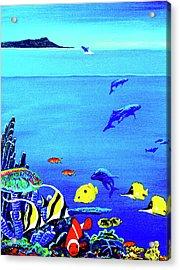Hawaiian Reef Fish Nimo #193 Acrylic Print by Donald k Hall