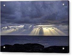 Hawaiian Sunrise Acrylic Print by Mike Herdering