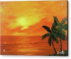 Hawaiian Sunset #27 Acrylic Print by Donald k Hall
