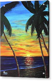 Hawaiian Sunset #340 Acrylic Print by Donald k Hall