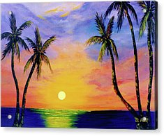 Hawaiian Sunset #36 Acrylic Print by Donald k Hall