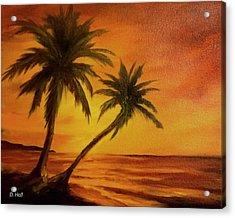 Hawaiian Sunset #380 Acrylic Print by Donald k Hall