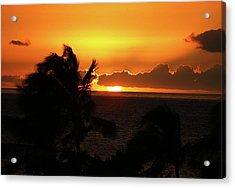 Acrylic Print featuring the photograph Hawaiian Sunset by Anthony Jones