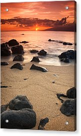 Hawaiian Sunset Acrylic Print by Nolan Nitschke