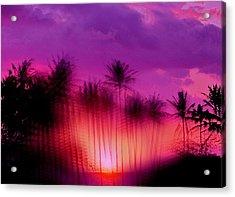 Hawaiian Sunset Acrylic Print by Phil Powers