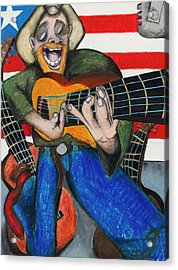 Hawaiian-texas-tunes Acrylic Print by Billy Knows