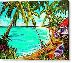 Hawaiian Tropical Beach #355 Acrylic Print by Donald k Hall