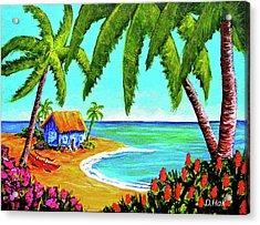 Hawaiian Tropical Beach  #364 Acrylic Print by Donald k Hall