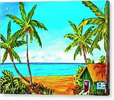 Hawaiian Tropical Beach #366  Acrylic Print by Donald k Hall