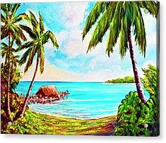 Hawaiian Tropical Beach #388 Acrylic Print by Donald k Hall