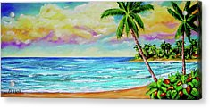 Hawaiian Tropical Beach #408 Acrylic Print by Donald k Hall