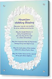 Hawaiian Wedding Blessing Acrylic Print