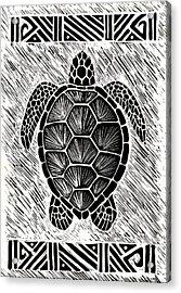Hawaiiana Honu Acrylic Print by Kirsten Carlson