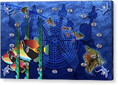 Hawaiiana Acrylic Print by Kenneth Armand Johnson