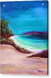 Hawaiin Blue Acrylic Print by Patricia Piffath