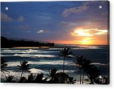 Hawaiin Sunset Acrylic Print by Thea Wolff