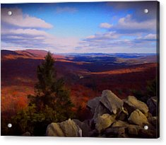 Acrylic Print featuring the photograph Hawk Mountain Pennsylvania by David Dehner