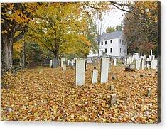 Hawke Meetinghouse - Danville New Hampshire Acrylic Print by Erin Paul Donovan
