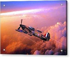 Acrylic Print featuring the digital art Hawker Hurricane British Fighter by John Wills
