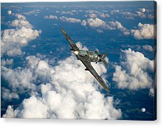 Acrylic Print featuring the photograph Hawker Hurricane IIb Of 174 Squadron by Gary Eason