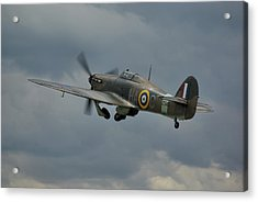 Acrylic Print featuring the photograph Hawker Hurricane Mk Xii  by Tim Beach